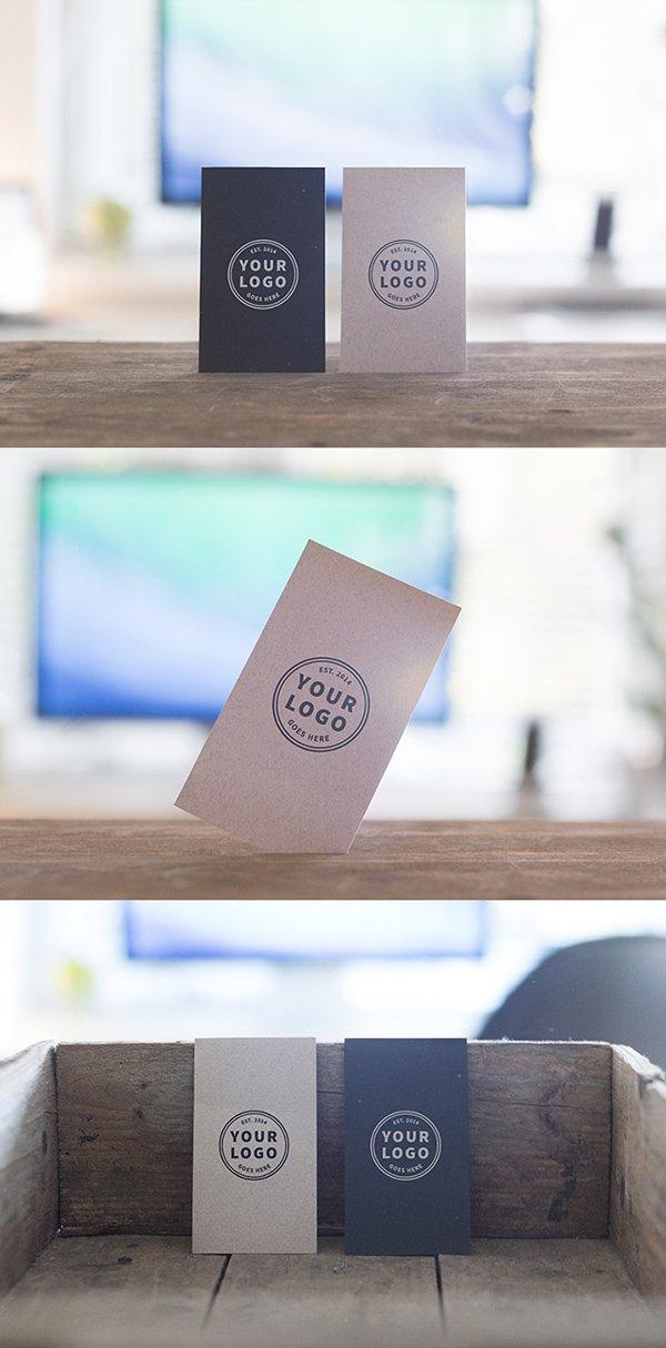3 maquetas de tarjetas de visita independientes