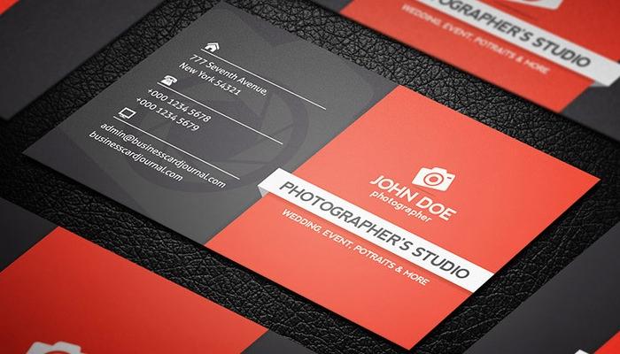 tarjetas de presentación 1 John Doe Fotógrafo Gratis