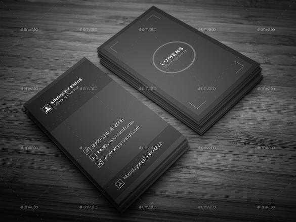 tarjetas de presentación 1 tarjeta de visita de fotografía mínima