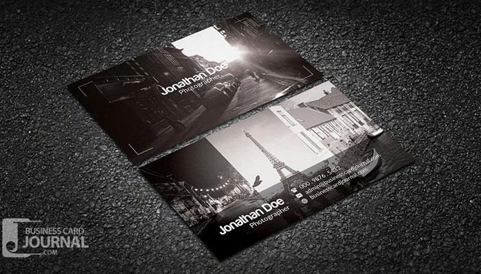tarjetas de presentación 1 Tarjeta libre de fotógrafo