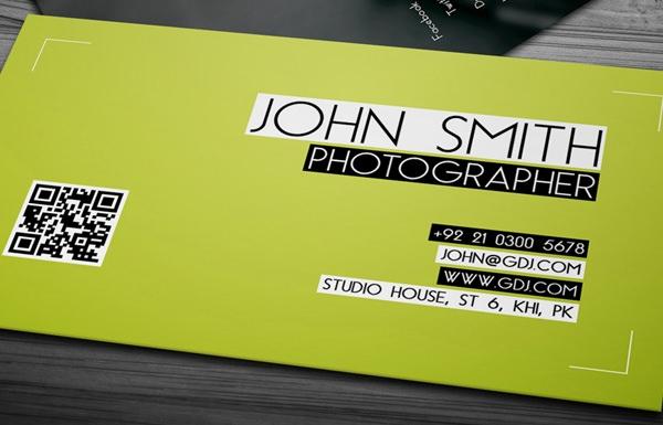 tarjetas de presentación 1 tarjeta de jhon smith fotógrafo