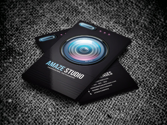 tarjetas de presentación 1 tarjeta de visita de lente de fotógrafo