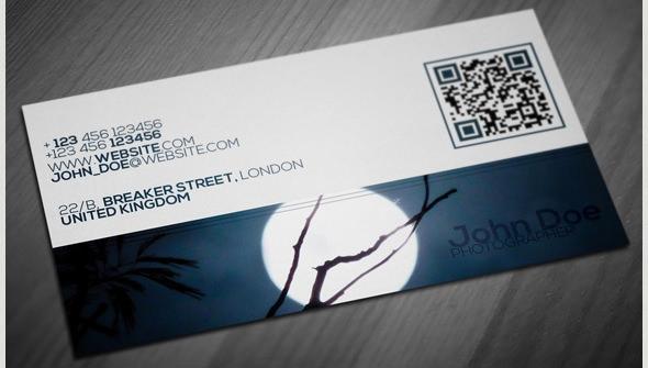 diseño de tarjeta de visita de fotografía