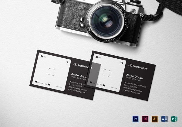 tarjetas de presentación 1 plástico-fotógrafo-tarjeta-de-negocio-plantilla