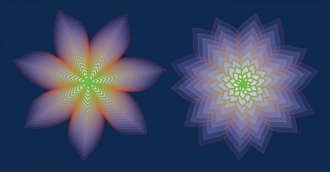Mejores Plugins de Adobe Illustrator: Una impresionante escultura geométrica creada con ArtMatrix.