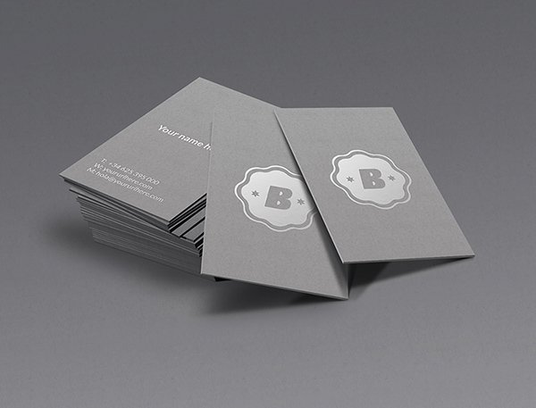 Tarjeta de visita de plata maqueta