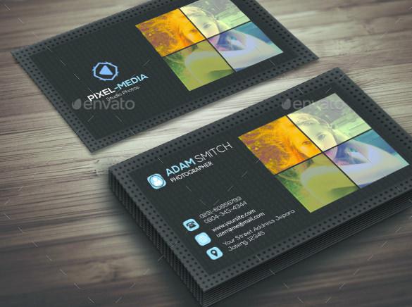 tarjeta de visita de la fotografía del estilo