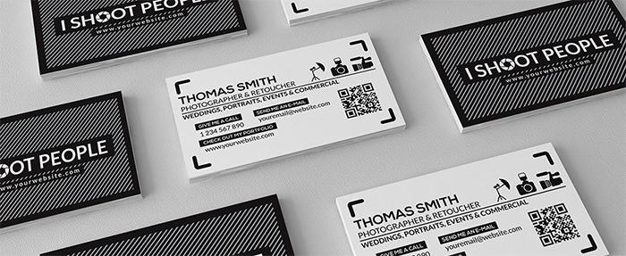 thomas smith fotografía gratis plantilla de tarjeta de visita1