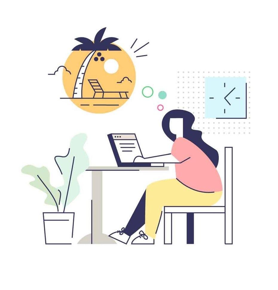 tendencias de diseño gráfico, ¿Qué tan atento eres? ilustración