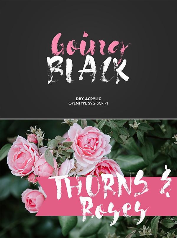 Going Black SVG fuente