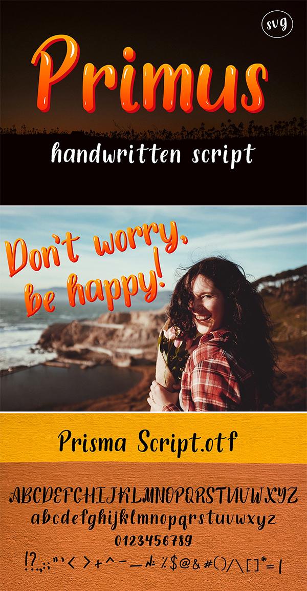 Primus Font SVG manuscrito manuscrito