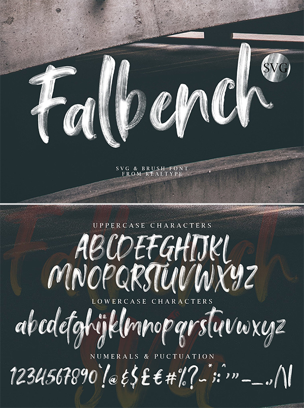Falbench SVG Brush Fuentes