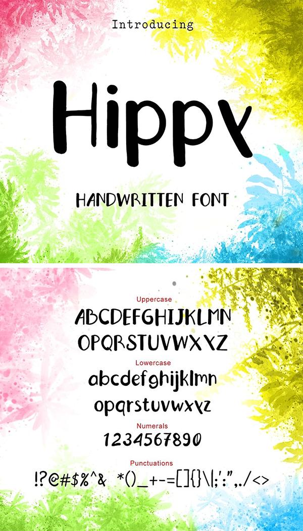 Fuente Hippy Hand Drawn