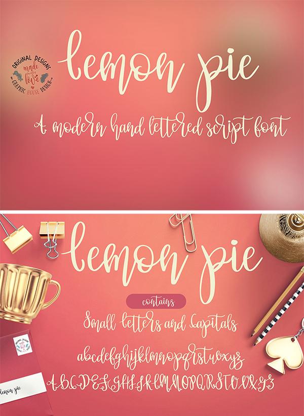Lemon Pie Hand Lettered Script Fuente