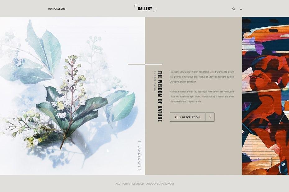 tendencias de diseño gráfico, Galería de la sabiduría de la naturaleza.