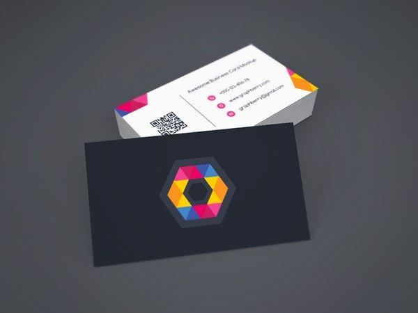 Plantilla de mockups de tarjeta de visita gratis vol.9