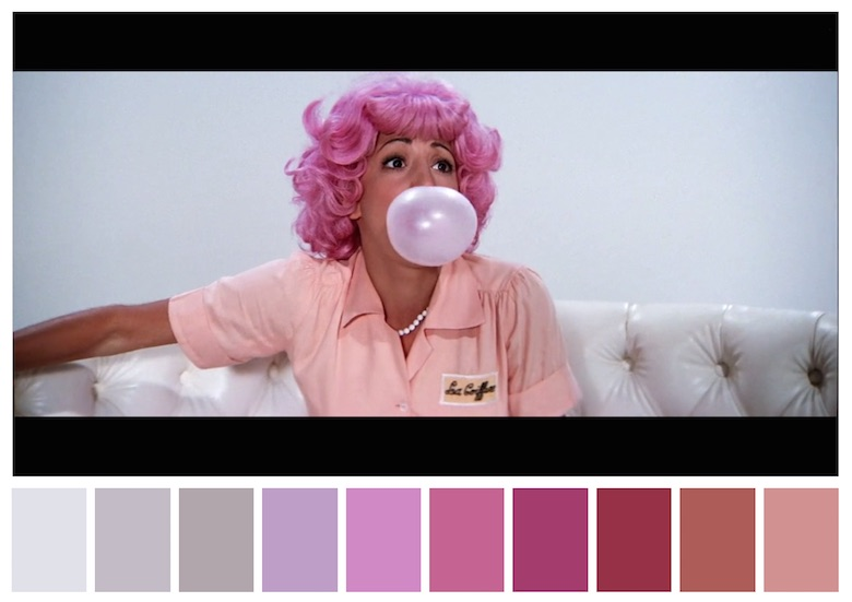 Cinema Palettes: Color palettes from famous movies - Grease