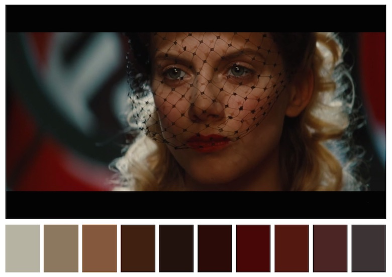 Cinema Palettes: Color palettes from famous movies - Inglourious Basterds