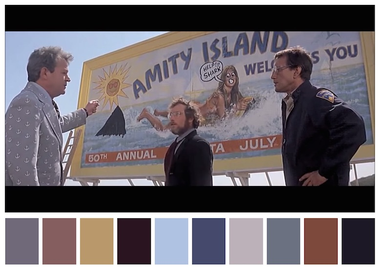 Cinema Palettes: Color palettes from famous movies - Jaws