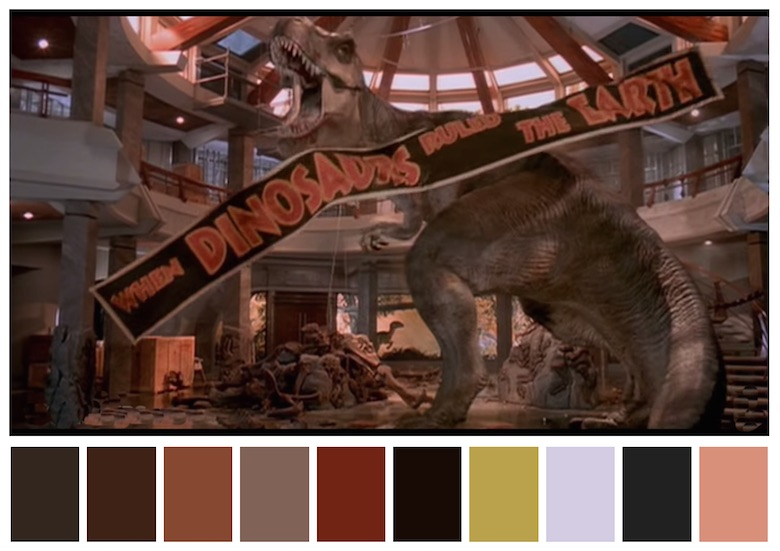Cinema Palettes: Color palettes from famous movies - Jurassic Park