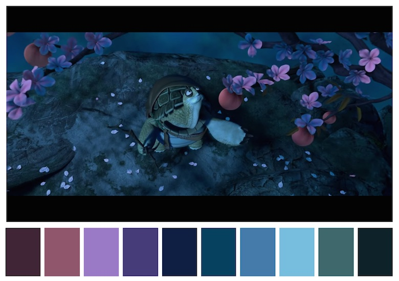 Cinema Palettes: Color palettes from famous movies - Kung Fu Panda