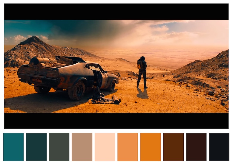 Cinema Palettes: Color palettes from famous movies - Mad Max - Fury Road