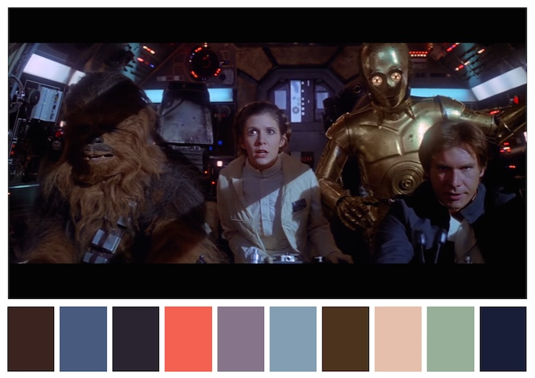 Cinema Palettes: Color palettes from famous movies - Star Wars - Episode V - The Empire Strikes Back
