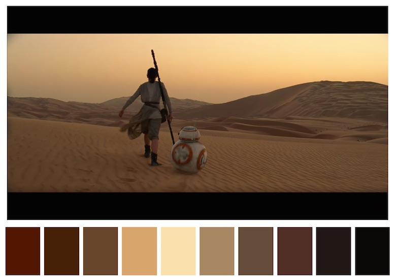 Cinema Palettes: Color palettes from famous movies - Star Wars - The Force Awakens