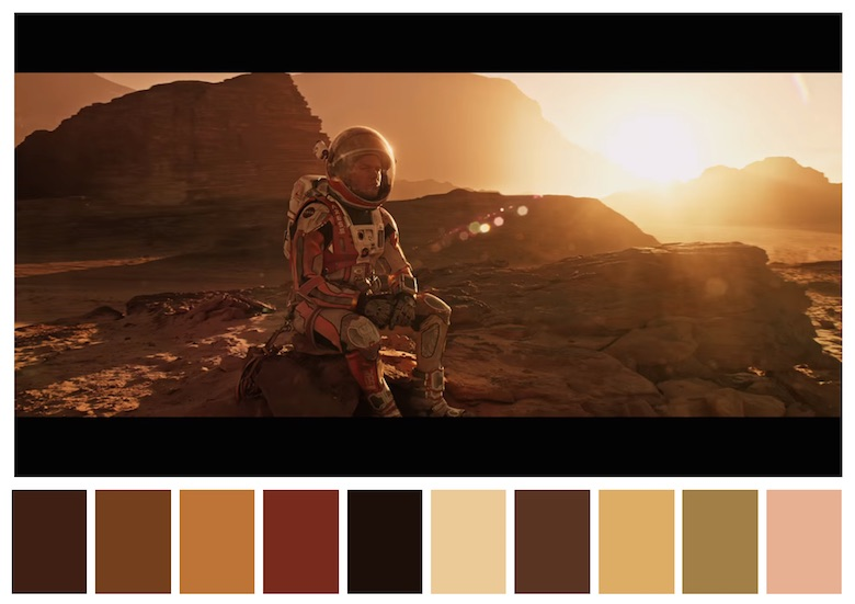 Cinema Palettes: Color palettes from famous movies - The Martian