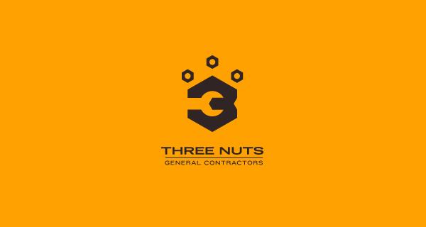 Logotipos y Diseños que utilizan espacio negativo - Three Nuts