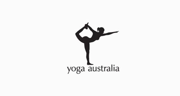 Diseños de logotipos creativos que usan espacio negativo - Yoga Australia