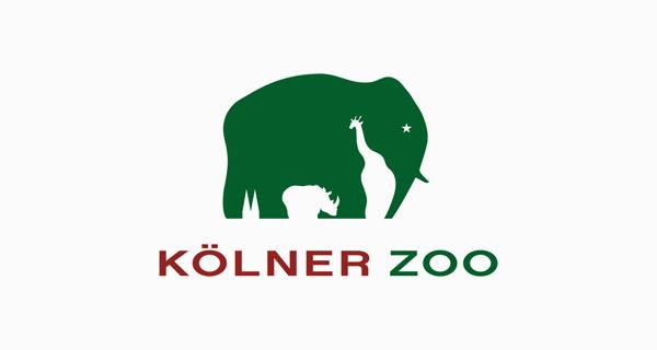 Diseños de logotipos creativos que utilizan espacio negativo - Kolner Zoo
