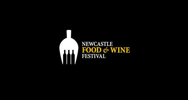Diseños de logotipos creativos que utilizan el espacio negativo - Newcastle Food & Wine Festival