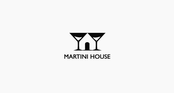 Diseños de logotipos creativos que utilizan espacio negativo - Martini House
