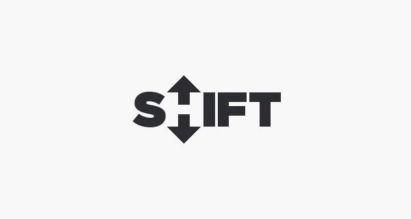 Logotipos y Diseños de logos creativos que usan espacio negativo - Shift