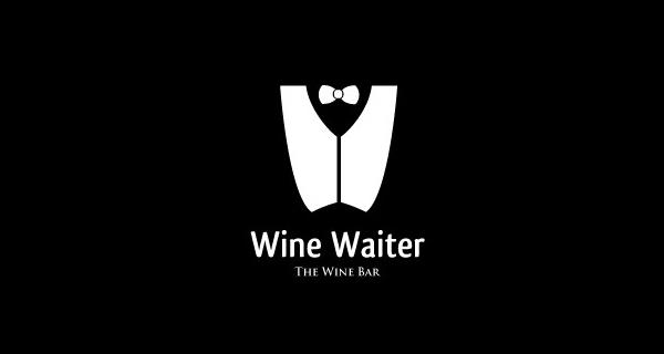 Diseños que utilizan espacio negativo - Wine Waiter