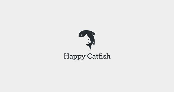 Diseños que utilizan espacio negativo - Happy Catfish