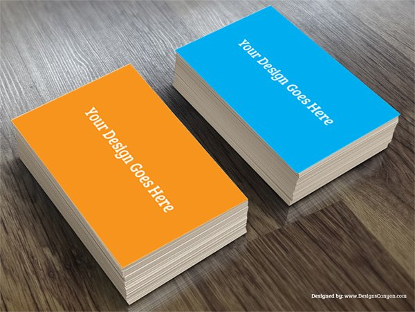 mockups creativa de la tarjeta de visita de PSD
