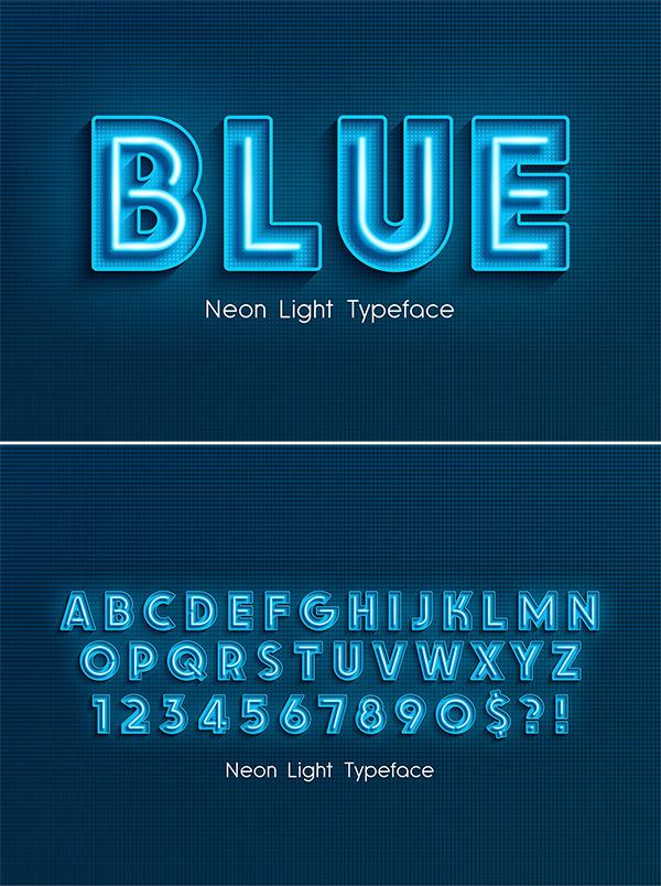 Alfabeto 3d de luz de neón extra brillante
