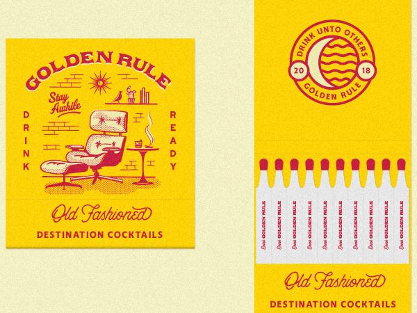 tendencias de diseño gráfico, Regla de oro - Antiguos Matchbooks
