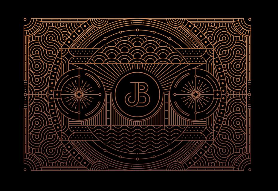 tendencias de diseño gráfico, Minimal Lettermark logo y Line Graphic Illustration para Juicebox