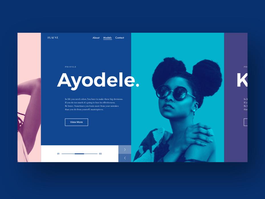 Sitio web de modelado Ayodele
