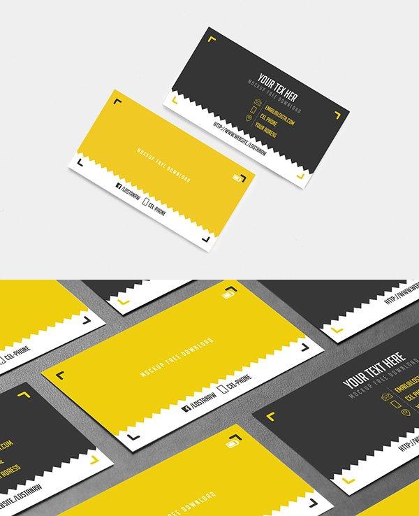 Plantilla de mockups gratuita de tarjeta de visita