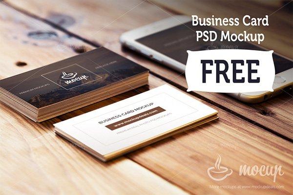 Tarjeta de visita gratis mockups con iphone