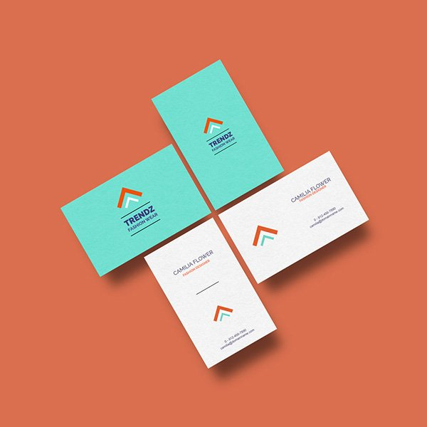 Plantilla de tarjeta de visita de maqueta