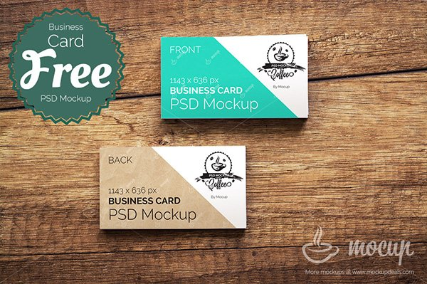 mockups de tarjeta de visita gratis de CI