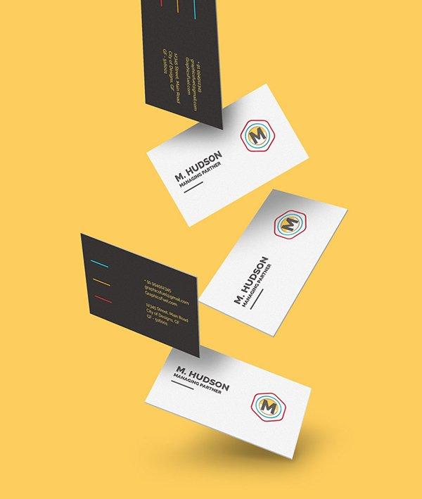 mockups de caída libre de tarjetas de visita