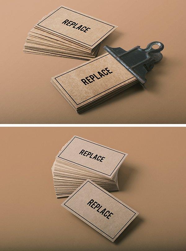 2 maquetas de tarjetas de visita