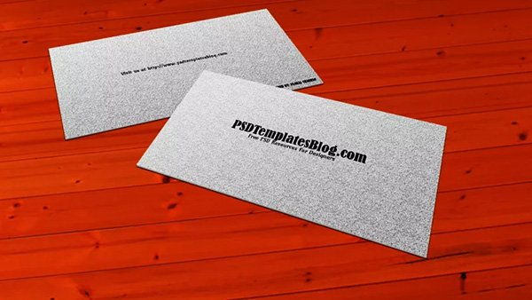 Plantilla de mockups de tarjeta de visita simple