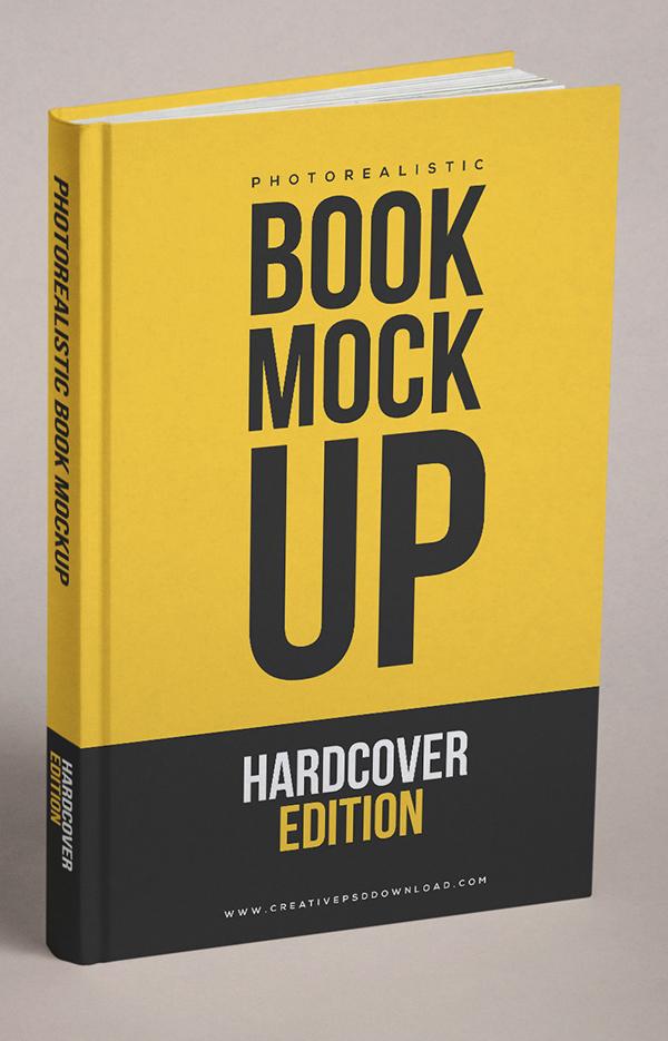 Free Realistic Book Cover Gratis PSD Mockup